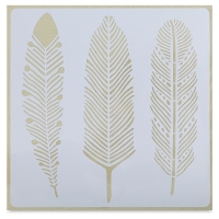 Adhesive Fabric Stencil, Feathers