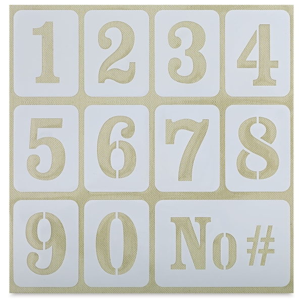 """Adhesive Fabric Stencil, Numbers, 2-1/8"""""""