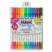 Dual-Tip Fabric Markers, Set of 14