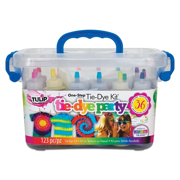 One-Step Tie-Dye Kit, 18-Color Kit, Tie-Dye Party