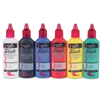 Dimensional Fabric Paint, Set of 6,Slick