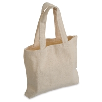 Natural Cotton Mini Totes, Pkg of 6