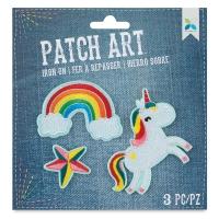 Iron-On Patch Art (Unicorn, Rainbow, and Star)