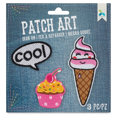 Iron-On Patch Art (COOL, Cupcake, and Ice Cream)