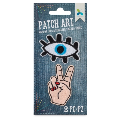 Iron-On Patch Art (Eye and Peace)