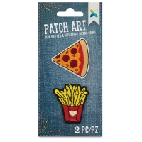 Iron-On Patch Art (Pizza and Fries)