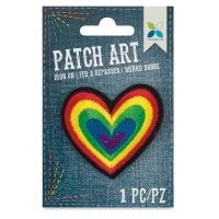 Iron-On Patch Art (Rainbow Heart)