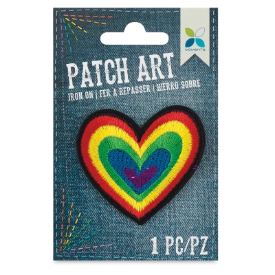 Iron-On Patch Art (Rainbow Heart)