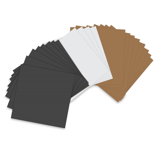 "Assorted Basics, Pkg of 20 Sheets<br/>6"" × 6"""