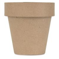 Papier Mâché Clay Pot