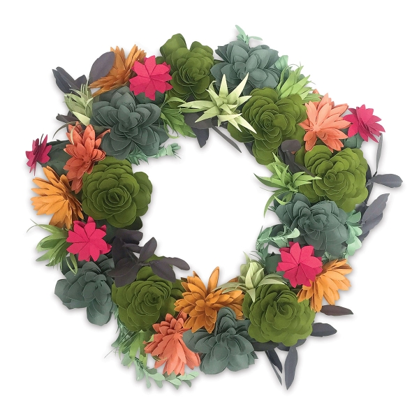 Succulent Wreath DIY Kit by Katelyn Lizardi<br/>(Example Artwork)