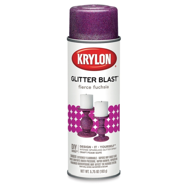 Glitter Blast Spray Paint, Fierce Fuchsia