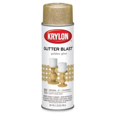Glitter Blast Spray Paint, Golden Glow