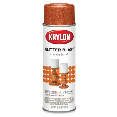 Glitter Blast Spray Paint, Orange Burst
