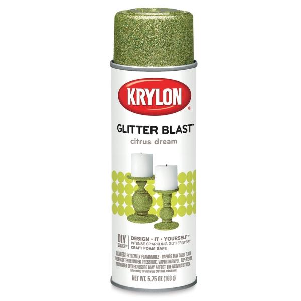Glitter Blast Spray Paint, Citrus Dream