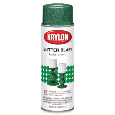 Glitter Blast Spray Paint, Lucky Green