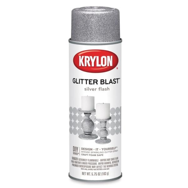 Glitter Blast Spray Paint, Silver Flash