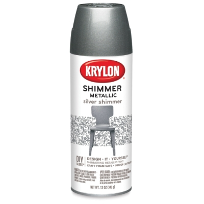 Shimmer Metallic Spray Paint, Silver Shimmer