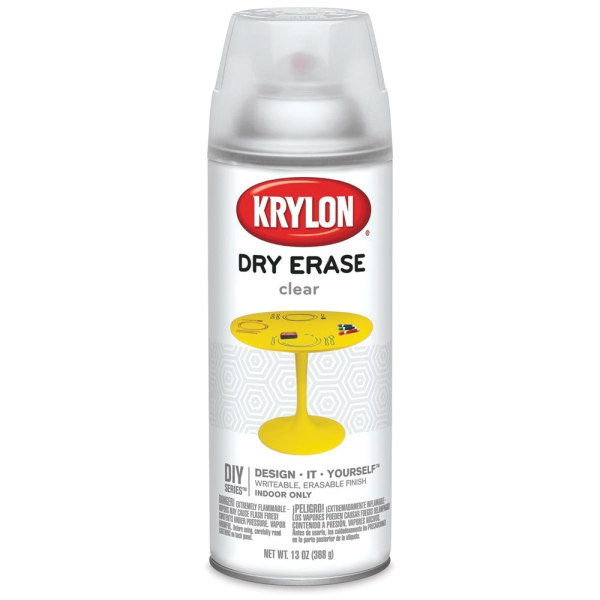 Krylon Dry Erase Spray, Clear