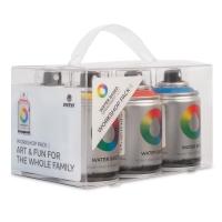 MTN Water Based Spray Paint, Workshop Pack of 6, 100 ml
