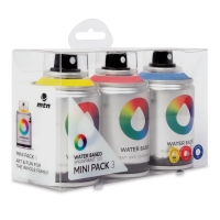 MTN Water Based Spray Paint, RBY Mini Pack of 3, 100 ml cans