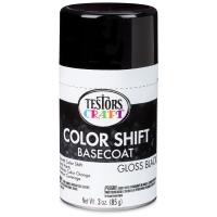 Color Shift Spray Paint, Basecoat, Gloss Black