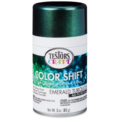 Color Shift Spray Paint, Emerald Turquoise