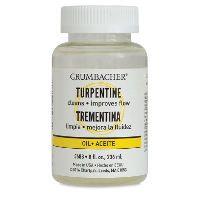 Grumbacher Turpentine, 8 oz