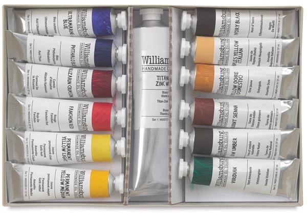 Williamsburg Handmade Oil Paint Sets, Basic Painting Set, 13 Tubes