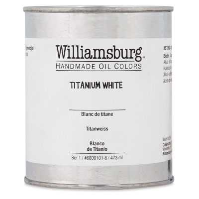 Williamsburg Handmade Oil Paint, 473 ml Can, Titanium White