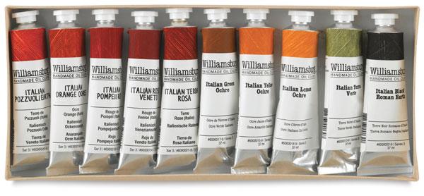 Williamsburg Handmade Oil Paint Sets, Native Italian Earths Set