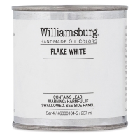 Williamsburg Handmade Oil Paint, 237 ml Can, Flake White