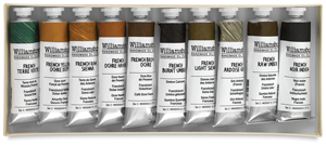 Williamsburg Handmade Oil Paint Sets, French Earths Set