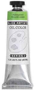 Blick Artists' Oil Colors, Permanent Yellow Green, 40 ml Tube