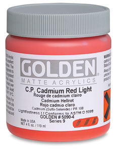 4 oz Jar, C.P. Cadmium Red Light