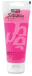 Pebeo High Viscosity Studio Acrylic, Fluorescent Pink