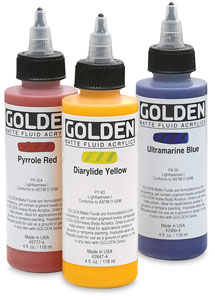 golden matte fluid acrylics blick art materials