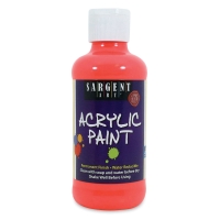 Sargent Acrylic Paint, Fluorescent Red, 8 oz