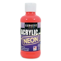 Sargent Acrylic Paint, Neon Red, 8 oz