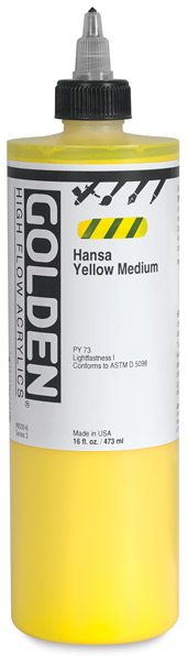 Hansa Yellow Medium, 16 oz Bottle
