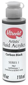 Fluid Acrylic, Carbon Black, 4 oz