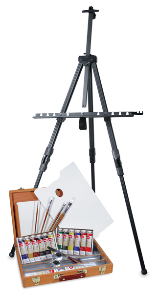 Utrecht Artists' Acrylic Colors, Deluxe Easel Set (Shown w/Easel)
