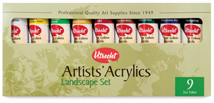 Utrecht Artists' Acrylic Colors, Landscape Set