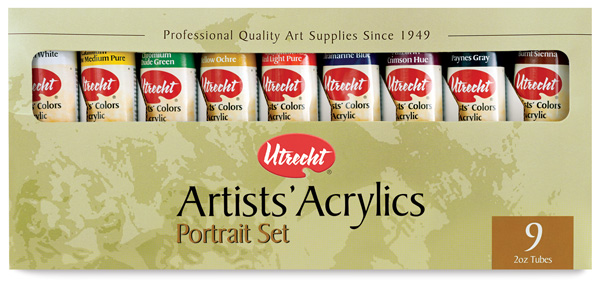 Utrecht Artists' Acrylic Colors, Portrait Set