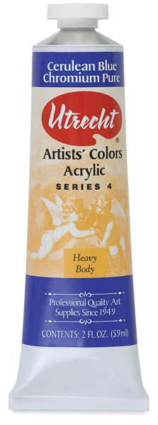 Artists' Acrylic Paint, Cerulean Blue Chromium Pure, 2 oz
