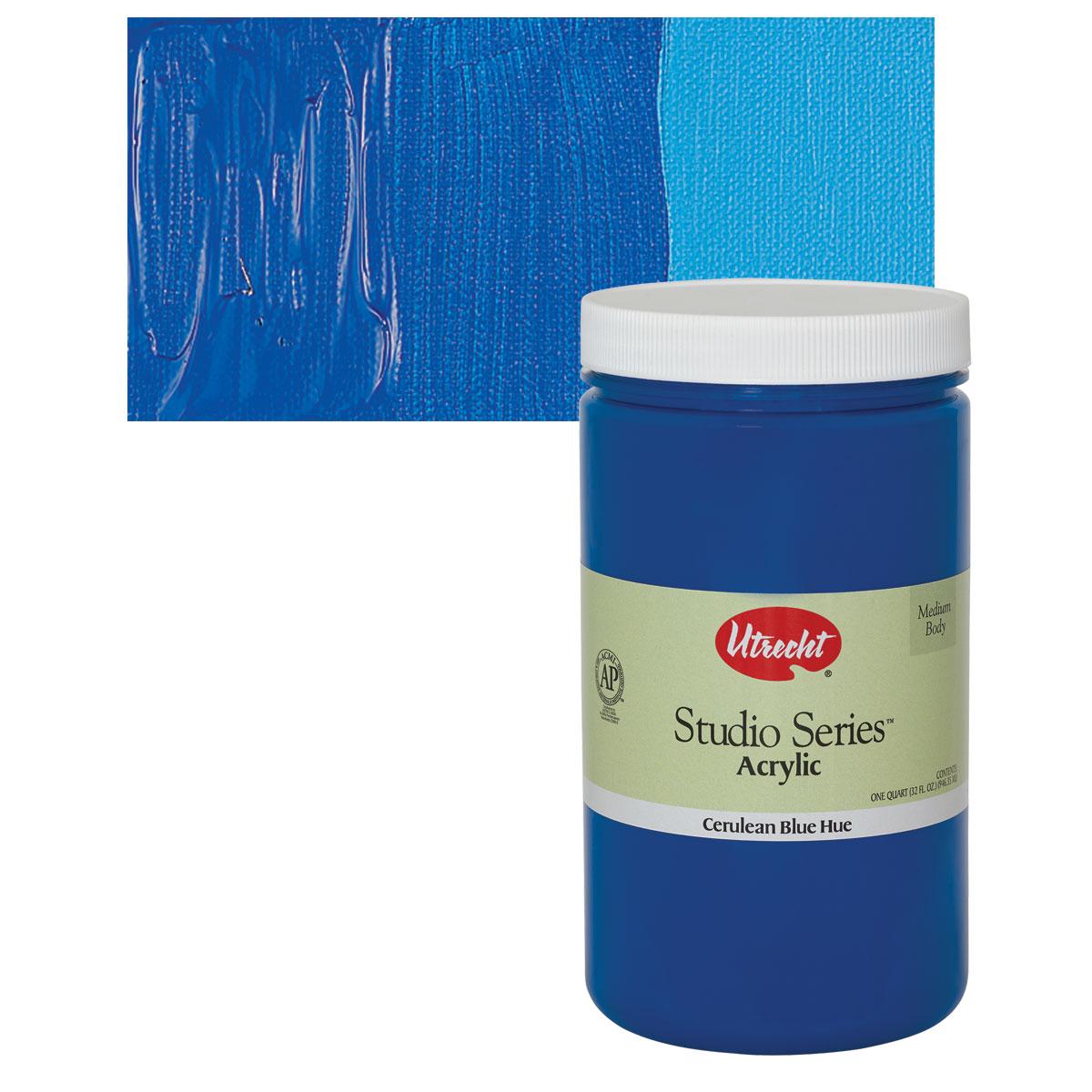 Utrecht Studio Series Acrylic Paint - Cerulean Blue Hue, Quart