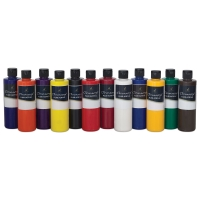 Chromacryl Fluid Acrylics, Set of 12, 250 ml Bottles