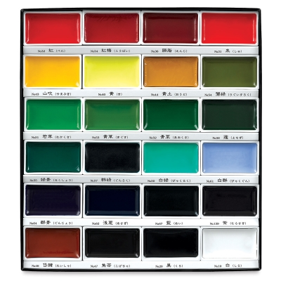 Kuretake Gansai Tambi Watercolor Assorted Set of 24