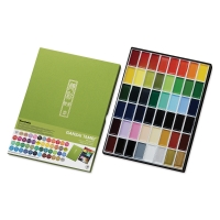 Kuretake Gansai Tambi Watercolor Assorted Colors, Set of 48