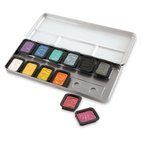 Finetec Watercolor Pan Set, Pearlescent Set of 12